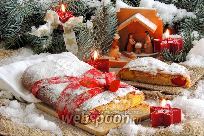 Рождественский штоллен с марципаном