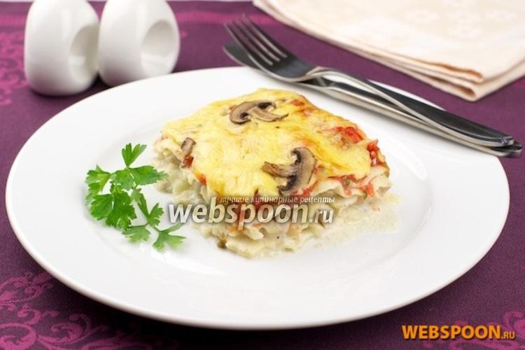 лазанья рецепт с грибами в духовке