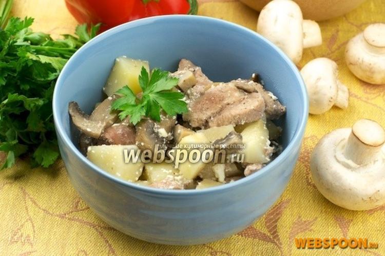 Фото Горшочки с мясом и грибами