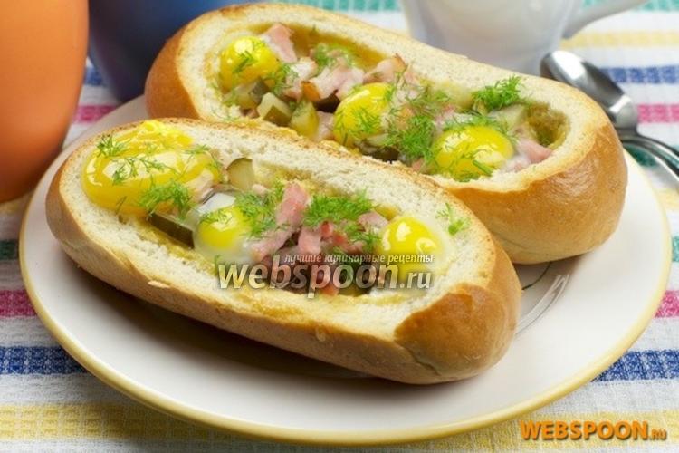 Фото Горячие бутерброды с яйцом