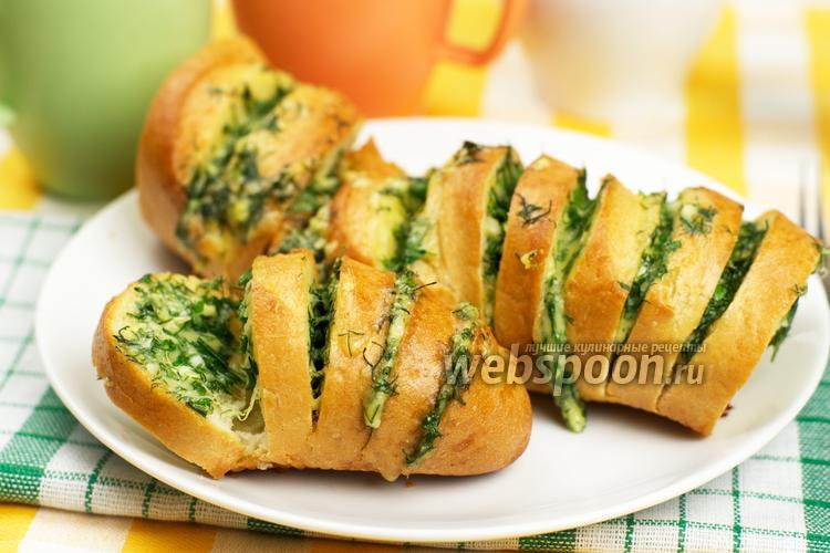 Рецепт Запечённый батон с сыром и чесноком