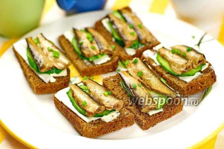 Фото Бутерброды со шпротами