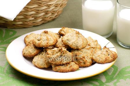 Овсяное печенье с фисташками