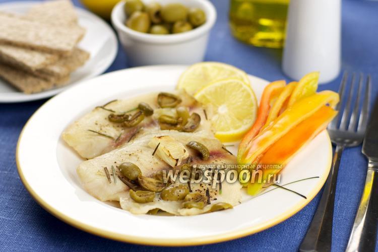 Фото Тилапия запечённая с оливками