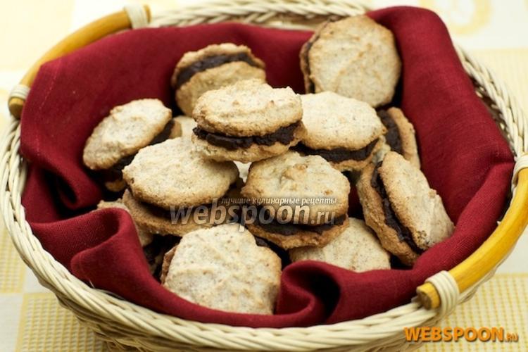 Фото Миндальное печенье с шоколадом