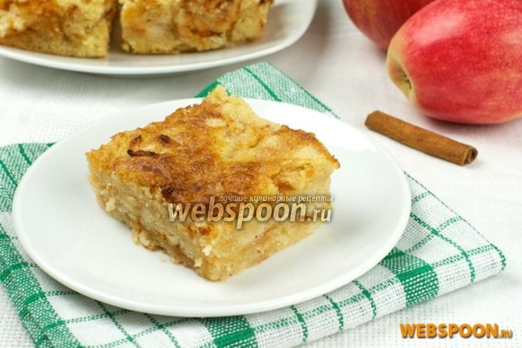 Фото Насыпной яблочный пирог