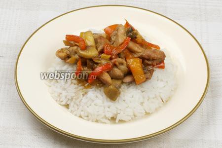 Подавать горячим как самостоятельное блюдо или, например, с рисом.