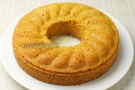 Затем кекс остудить до комнатной температуры и можно подавать.