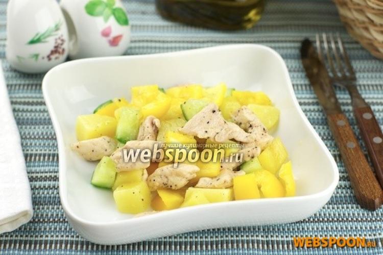 Фото Салат из курицы и сладкого перца