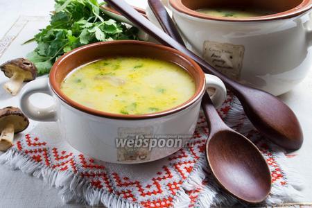 Грибной крем-суп с сельдереем