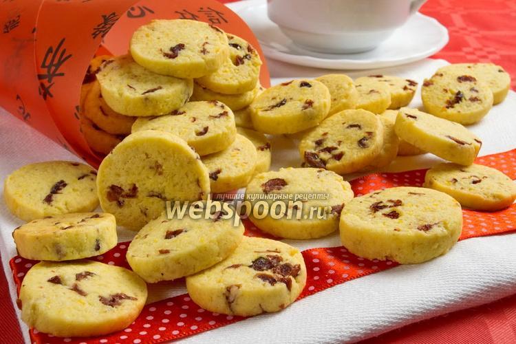 Фото Печенье с сушёной клюквой