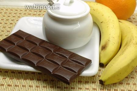 Подготовить фрукты, сахар, шоколад.