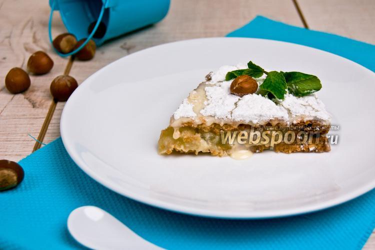 Рецепт Яблочно-ореховый пирог со сливочным кремом