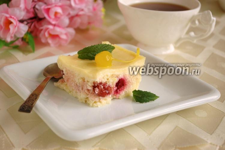 Фото Творожная запеканка с ванильно-сметанной заливкой