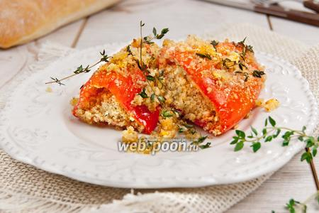 Перец запечённый с травами и сыром