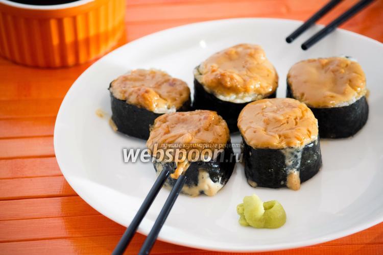 Рецепт Горячие роллы с лососем