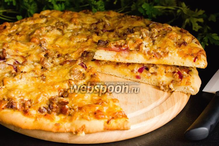 Фото Пицца с фаршем и сыром