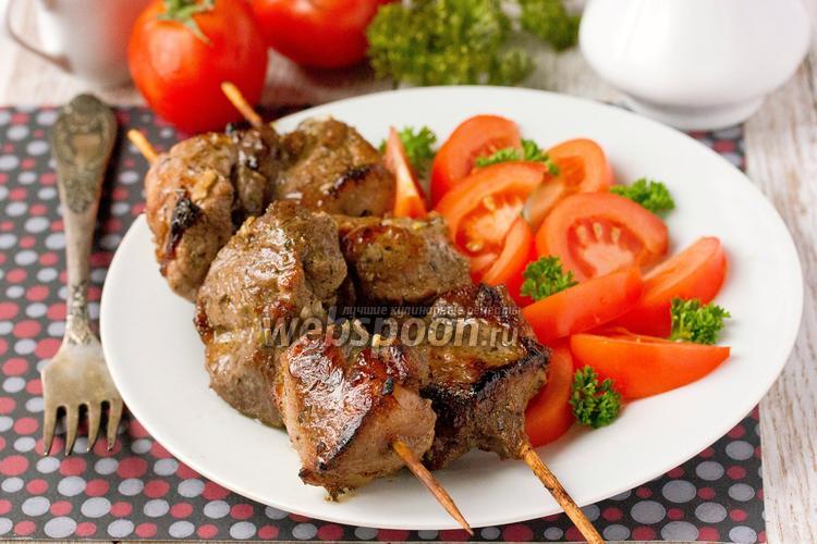 Рецепт Шашлык в духовке из свинины, маринованной в гранатовом соке