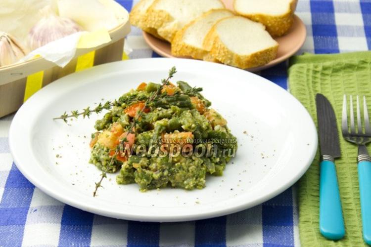 Фото Салат из зелёной фасоли