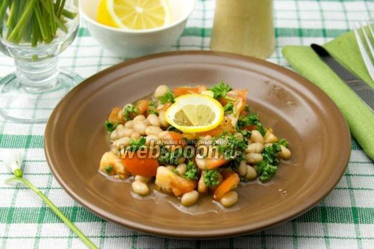 Фото Салат с фасолью и томатами