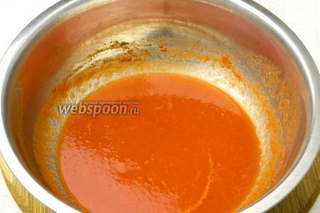 Томатный сок можно заменить томатной пастой или перетёртыми томатами.