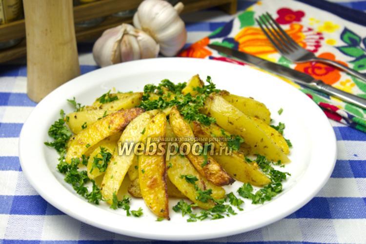 Фото Запечённый картофель с горчицей