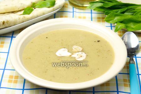 Крем-суп из шампиньонов постный