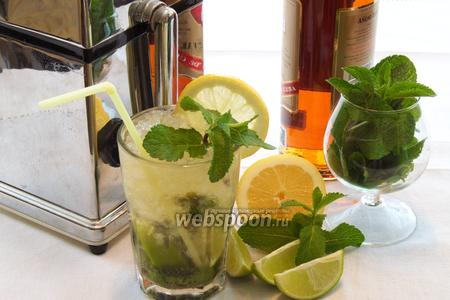 Мохито с лимоном и спрайтом