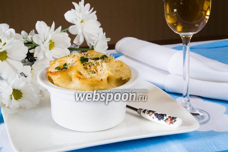 Рецепт Каннеллони с грибами в сырном соусе