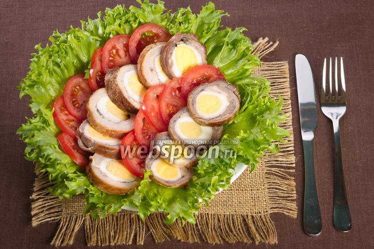 Рецепт Мясной рулет с яйцами