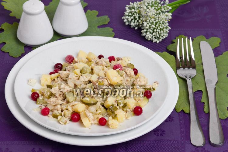 Рецепт Диетический салат с тунцом