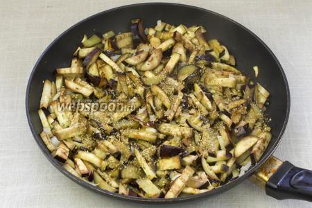 Затем добавить орегано, посолить и жарить 7-10 минут.
