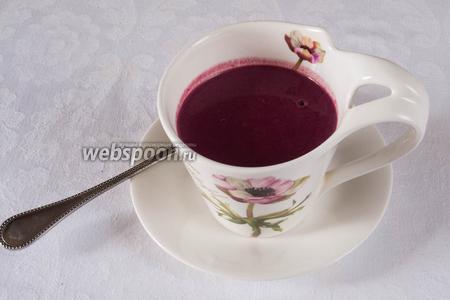Остудить в холодильнике в течение 1 часа. Подавать в чашках, бокалах или маленьких пиалах.