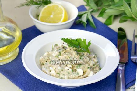 Быстрый салат с тунцом и творогом