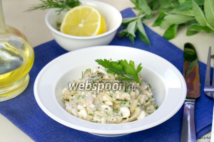 Фото Быстрый салат с тунцом и творогом