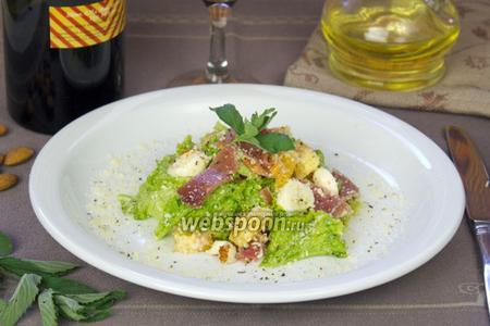 Салат с прошутто и апельсином