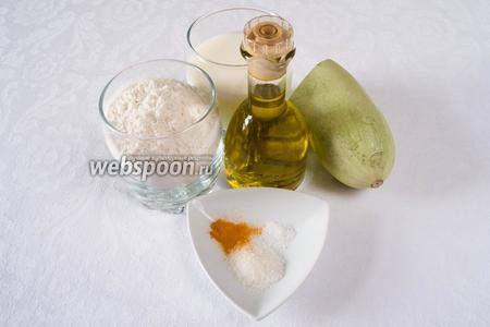 Чтобы приготовить оладьи необходимо взять кислое молоко (домашнее), можно кефир, сахар, соль, соду, куркуму (по желанию), муку, кабачок, оливковое масло (можно любое растительное масло).