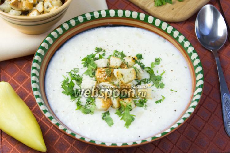 Фото Сырный суп с рисом