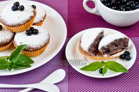 Кексы с черникой без яиц
