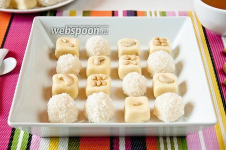 Кокосово-молочный барфи