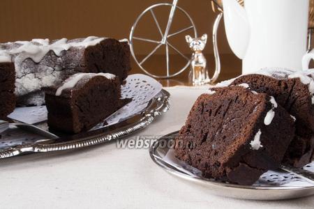 Шоколадный кекс с корицей