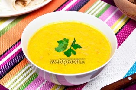 Сливочный крем-суп с морковью