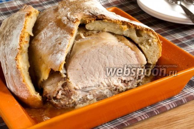 Мясо запеченное в тесте пошаговый рецепт с
