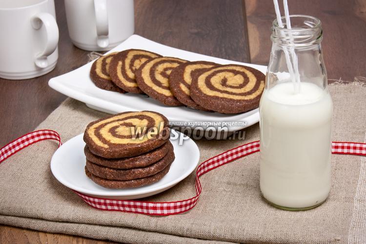 Рецепт Кофейно-шоколадное печенье «Зебра»