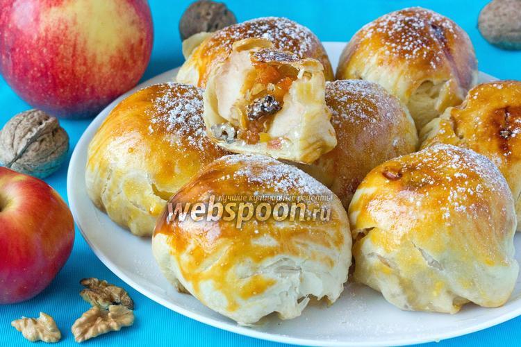 Фото Сладкие фаршированные яблоки, запечённые в слоёном тесте