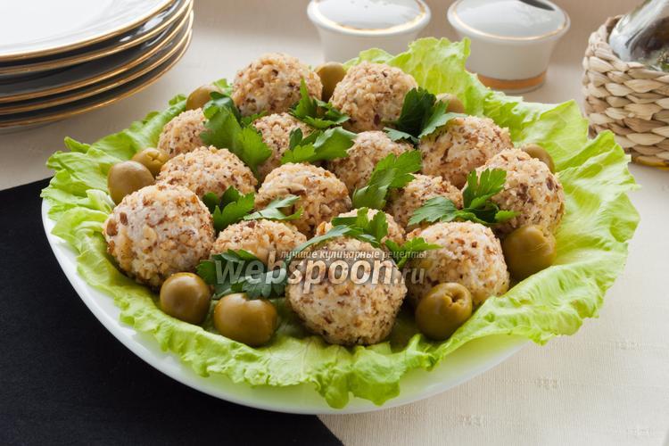 Рецепт Сырно-куриные шарики с оливками