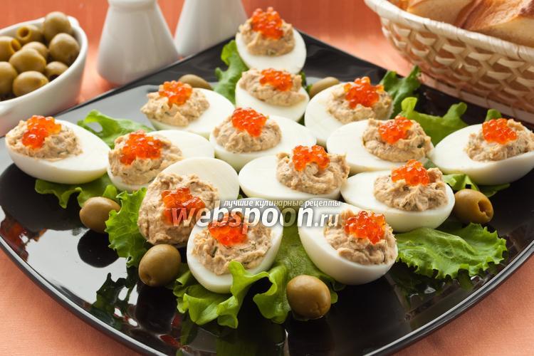 Фото Яйца с рыбным паштетом