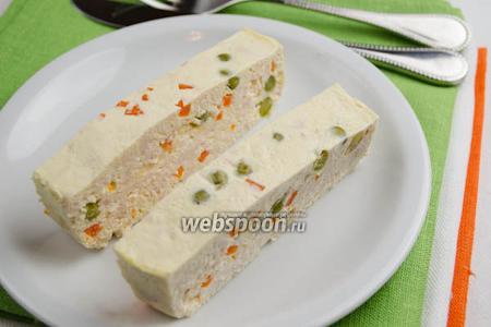 Куриное суфле с овощами на пару