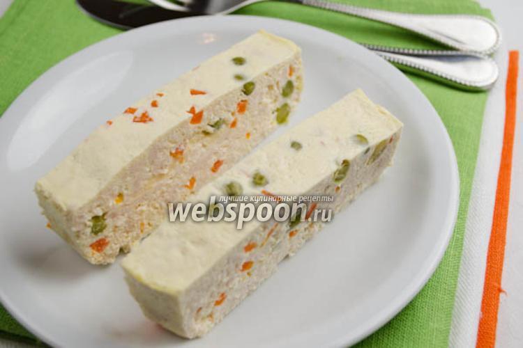 Фото Куриное суфле с овощами на пару
