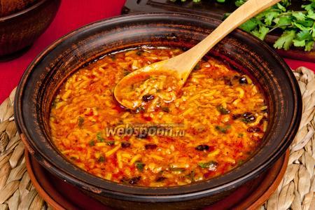 Суп Харчо без мяса с томатной пастой